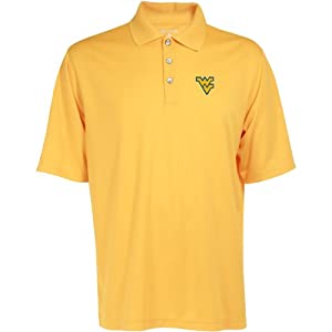 Antigua Mens West Virginia Mountaineers Exceed Desert Dry Xtra Lite Moisture Ma by Antigua