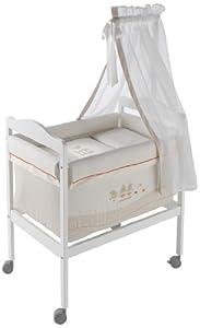 Naf-Naf Square Mini-Cot, Textiles and Mosquito Net (Quack, Beige)