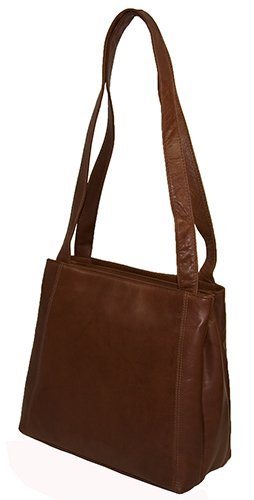 Visconti Atlantic Genuine Soft Leather Large Two Handled Shopper Style Shoulder/Hand Bag - 18181, Brown