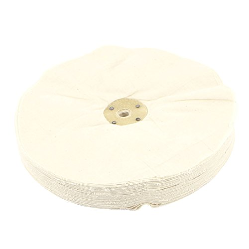 Beige 1/2 x 10 Round Design Polish Buffing Wheel Cotton Pad 100pcs 13mm wool felt polishing buffing pad 2 shank for dremel grinding wheel r06 drop ship
