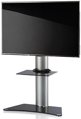 """VCM 17060 TV-Standfuss """"'Zental"""", TV-Rack Aus Aluminium mit Zwischenablage"""