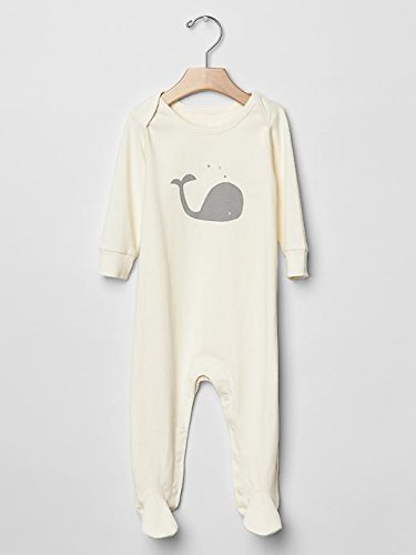 Gap Baby Organic Whale Footed One Piece Size 0-3 M front-999326