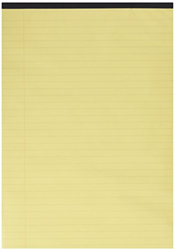 q-connect-executive-pad-a4-yellow-ruled-feint-and-margin-kf01387-pack-of-10