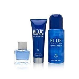 Amazon.com : Antonio Banderas Blue Seduction for Men 3 Piece Set