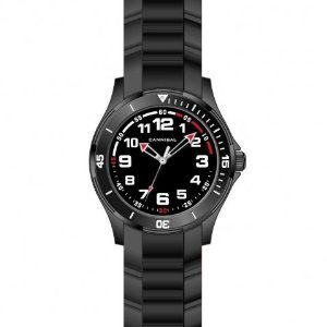 Cannibal Boy's Quartz Watch with Black Dial Analogue Display and Black Silicone Strap CJ219-03