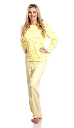 hering-womans-long-sleeve-pajama-set-style-7634-m-yellow