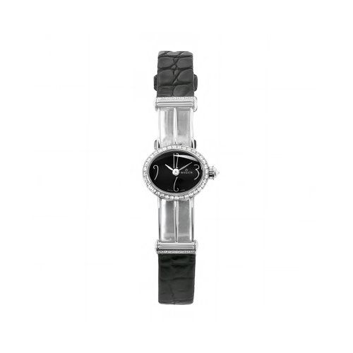 Milus Women's PER008 Persea Diamond Bezel Black Numeral Dial Watch