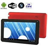 Alcoa Prime 7AW3 Red, 7. 0 Inch Capacitive Touch Screen Android 4. 0 Version Tablet PC With WIFI, 0. 3 Mega Pixels...