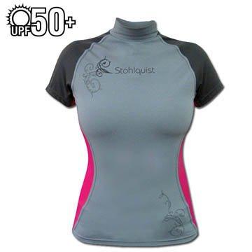 Cheap Stohlquist Women's Burnout Rashguard Kayak Shirt-Gray-XS (B005ODQ6Z6)