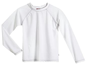 Solid Rashguard Swimming Tee - L/S White - 4