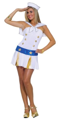 ALL HANDS ON DECK SEXY SAILOR OUTFIT – LADIES FANCY DRESS COSTUME ONE SIZE