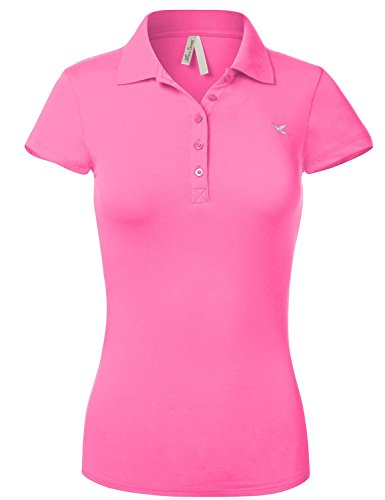 Slim Fit Long Waist Short Sleeve Plain Polo Tee Shirts