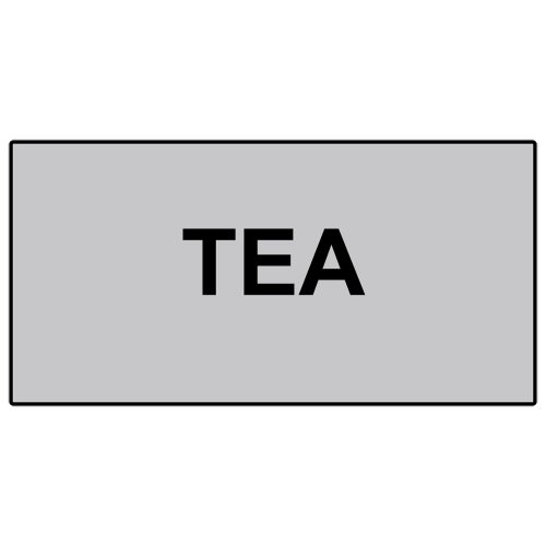 Compliancesigns Engraved Plastic Catering Sign, 6 X 3 Silver