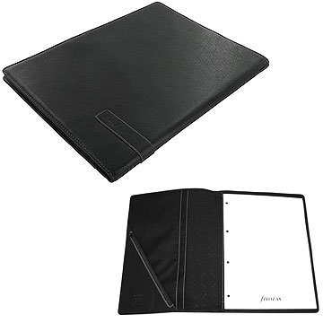 A4 Holborn Black Folder - Filofax Ref: 827340