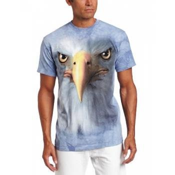 The Mountain Men'S Eagle Face T-Shirt, Gray, Xxx-Large