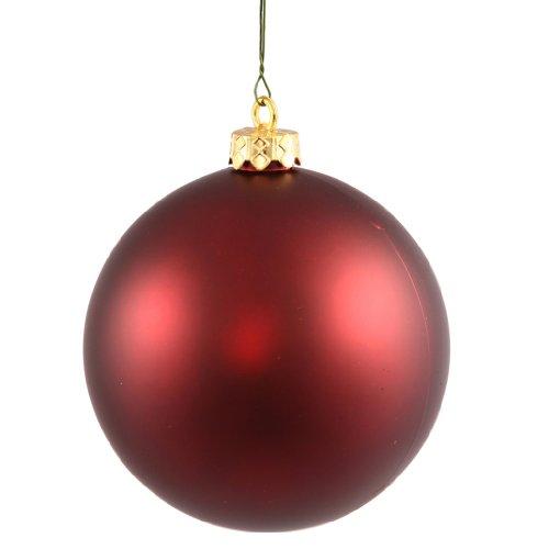 Vickerman 34777 – 2.75″ Burgundy Matte Ball Christmas Tree Ornament (12 pack) (N590705DMV)