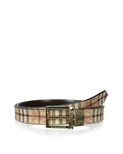 Burberry Men's Belt, Khaki Multi