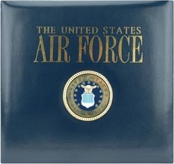K&Company Leather Air Force 12-by-12-Inch Scrapbook
