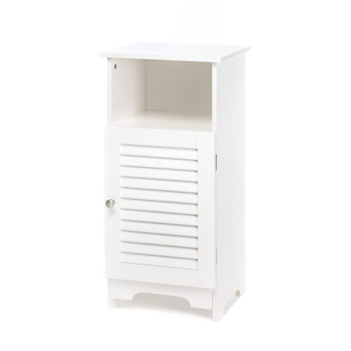 Nantucket White Storage Cabinet Nightstand