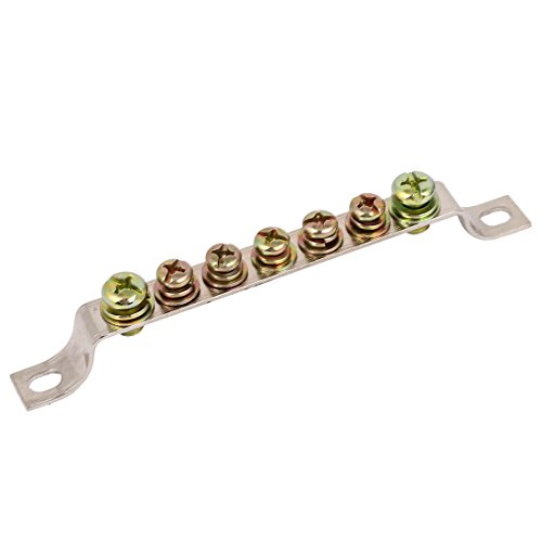 uxcell 7 Holes Ground Wire Bridge Shape Copper Screw Terminal Block Connector