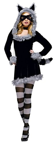 Funworld Womens Animals Sexy Fantasy Deluxe Racy Raccoon Adult Halloween Costume