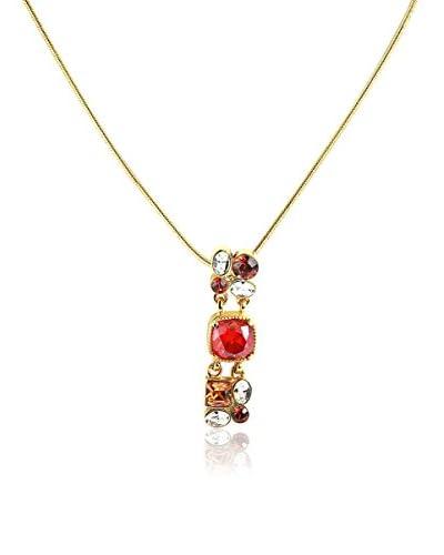 Art de France Collar  Dorado / Rojo