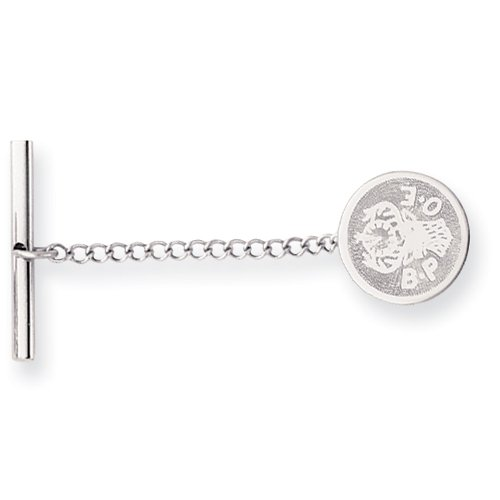 Rhodium-plated Elks Tie Tack Perfect Christmas Gift Idea