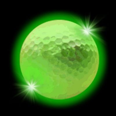 Windy City Novelties Novelty LED Golf Ball, Green - 1