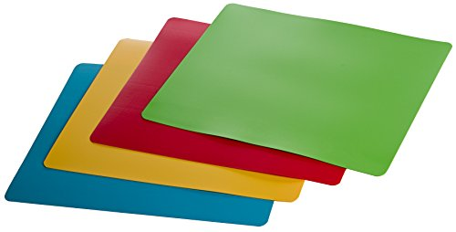 Prepworks from Progressive International PCC-404 Flexible Color-Coded Chopping Mats, Set of 4