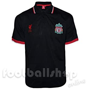 Liverpool FC Pique Polo Shirt Black (RRP £24.99!) Small by Liverpool