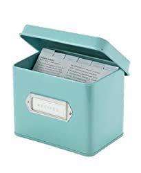 Martha Stewart Collection Recipe Box Red