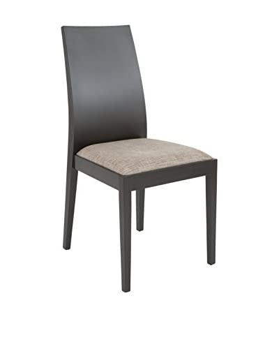 Eurostyle Deanna Side Chair, Light Brown/Wenge
