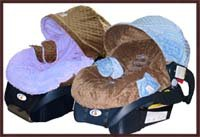 Infant Car Seat Cover Blue & Brown Minky - Buy Infant Car Seat Cover Blue & Brown Minky - Purchase Infant Car Seat Cover Blue & Brown Minky (Health & Personal Care, Products, Baby & Child Care)