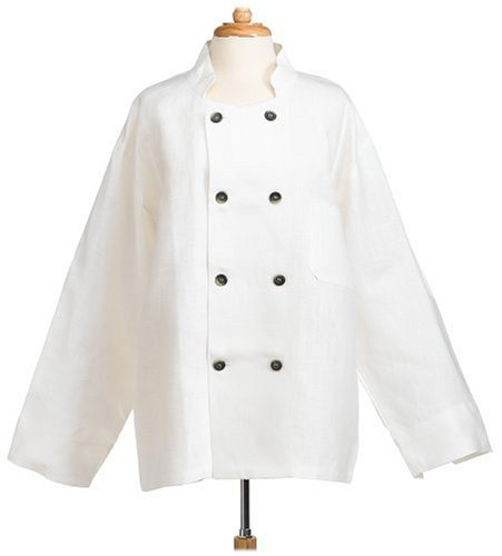 Domestique Linen Chef's Jacket, Ivory - Buy Domestique Linen Chef's Jacket, Ivory - Purchase Domestique Linen Chef's Jacket, Ivory (Domestique, Home & Garden, Categories, Kitchen & Dining, Kitchen & Table Linens, Holiday, Aprons & Oven Mitts)