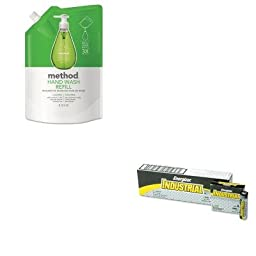 KITEVEEN91MTH00656 - Value Kit - Method Gel Hand Wash Refill (MTH00656) and Energizer Industrial Alkaline Batteries (EVEEN91)