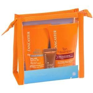 Lancaster Sonnenpflege Sun Care Sun Pouch Geschenkset Silky Milk SPF 15 - 50 ml + Tan Maximizer Soothing Moisturizer 50 ml + Infinite Bronze SPF 15 -