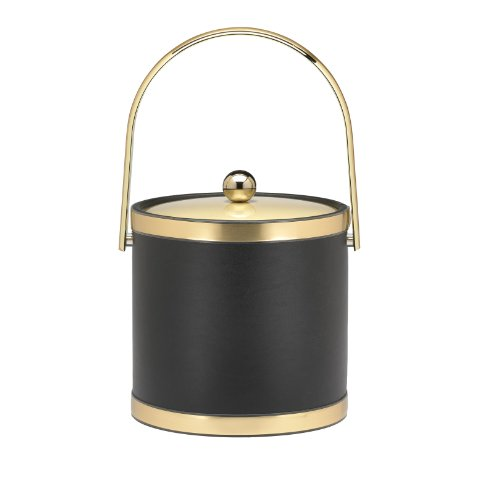 Kraftware Ice Bucket With Track Handle And Metal Cover - 3 Quart