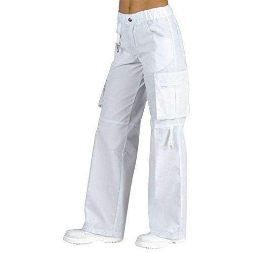 ATELIER DEL RICAMO - Pantaloni Maverick Isacco, Colore: Bianco, Taglia: XXL