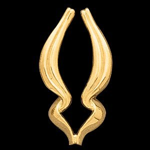 14K Yellow Gold Pendant Enhancer