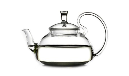 Relax Glass Teapot Heat Resistant for Blooming Tea 600ml/21oz-H12