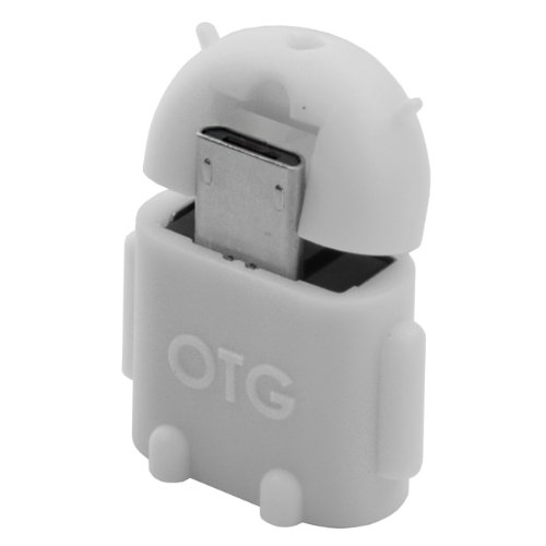 Android OTG USB Adapter WEIß für HTC One (M7) / One Mini (M4) / One Max (T6) / One 2 (M8) / One X+ / Butterfly S; Samsung Galaxy S2 (GT-I9100) | S2 G (GT-I9100G) | S2 Plus (GT-I9105P) | S3 (GT-I9300) | S3 (GT-I9305) | S4 (GT-I9500) | S4 LTE (GT-I9505) | S4 LTE+ (GT-I9506) | S4 Active (GT-I9295) | S5 (SM-G900) | S5 Mini (SM-G800) | Note (GT-N7000) | Note 2 (GT-N7100) | Note 2 LTE (GT-N7105) | Note 3 (GT-N9000) | Note 3 (GT-N9005) Mega 5.8 (GT-I9152 | Mega 6.3 (GT-I9205) | Tab 3 8.0 (SM-T310) | Ta