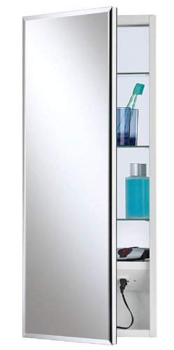 Jensen 704301 Meridian Medicine Cabinet With Beveled Mirror, 15-Inch By 25-Inch