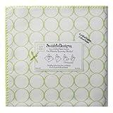 SwaddleDesigns Organic Ultimate Receiving Blanket, Mod Circles on Ivory, Kiwi