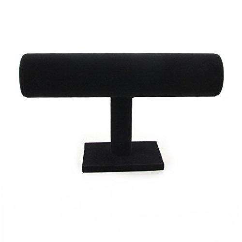 Amyster Velvet Bracelet T-Bar Jewelry Display Bangle (Black) (Bangle Display Case compare prices)