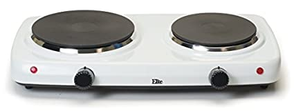 EDB-302F Elite Cuisine Dual Temperature Double Burner Cooktop