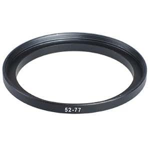 Adaptateur Filtre 52mm-77mm Step-Up (Lens pour filtre),Bague d'adaptation 52-77mm,Bague Métal Mesuré en haut Set, Métal Noir Anodisé