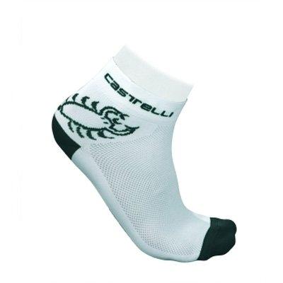 Buy Low Price Castelli 2012 Logo Cycling Sock – White/Black – R7070-001 (B000WN2RNS)