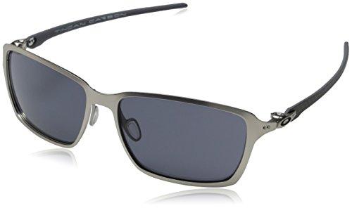 0e5576a8aa  Detail shop Oakley Men s Tincan Carbon Rectangular Sunglasses Satin Chrome  58 mm.