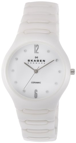 Skagen Women's SK817SSXC Ceramic White Dial Watch