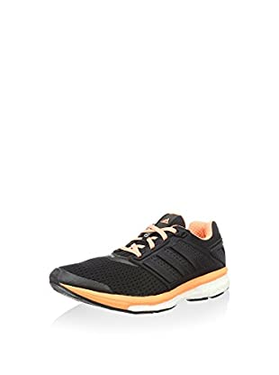 adidas Zapatillas de Running Supernova Glide 7 Woman (Negro / Naranja)